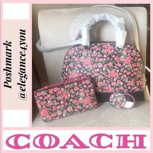 ✨COACH✨Authentic 3 Piece Floral Set NEW!